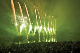 Großes Feuerwerk zu Ehren der Stadterhebung 1912